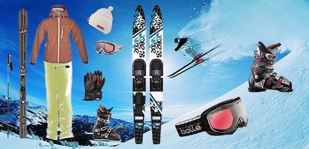 equipos de ski profesional y amateur