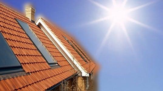 calefacción central solar