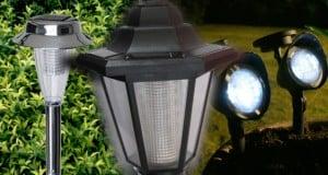 lampara solar para jardín
