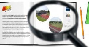 división de las zonas en la pista de atletismo
