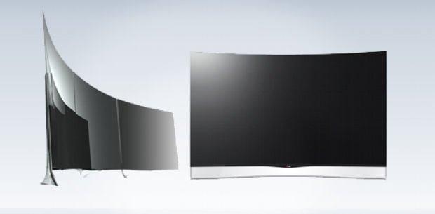 el nuevo televisor curvo de LG