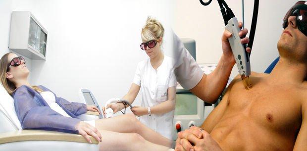 preparación de la piel para la depilación láser