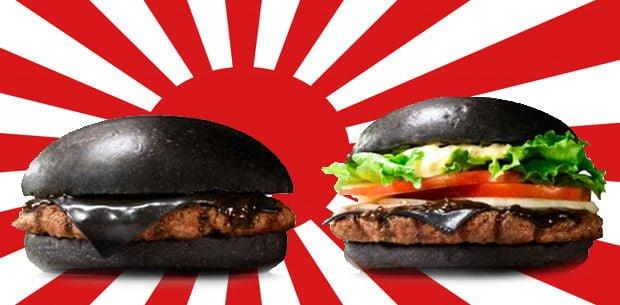 hamburguesa negra de Japón