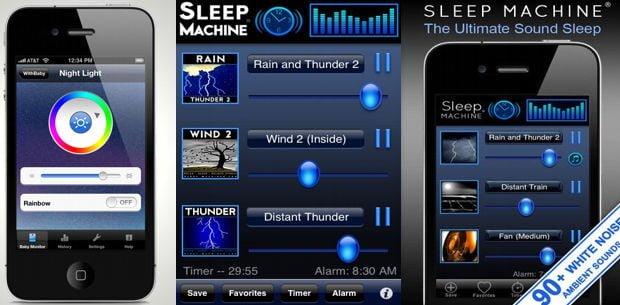 aplicaciones para dormir a los recién nacidos