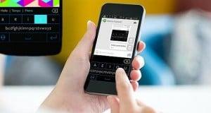 un teclado de seis botones para smartphones y tablets