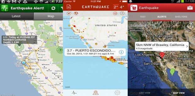 aplicaciones útiles en caso de vivir un terremoto