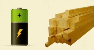 baterías de madera para el futuro