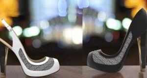 zapatos con tinta electrónica