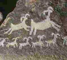 pintura sobre piedra