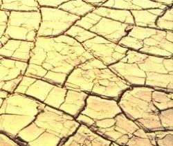 foto tierra agrietada por falta de agua