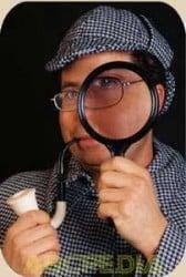 foto detective clásico de las novelas