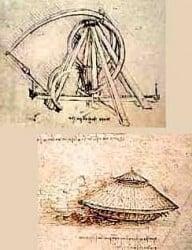 dibujos técnicos de Leonardo DaVinci