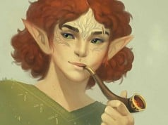 elfo joven fumando