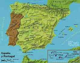 mapa del reino español