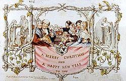 Primera tarjeta de navidad de la historia