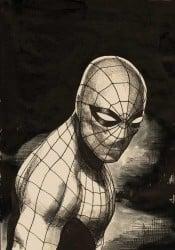dibujo con lápiz de superhéroe
