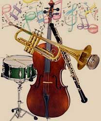 foto de grupo de instrumentos musicales