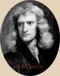 dibujo del rostro de Newton de joven