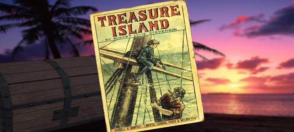novela la isla del tesoro, ilustración