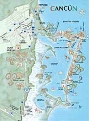 mapa playas cancun