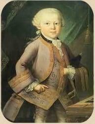 retrato de Mozart de niño