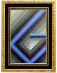 pintura acrílica estilo geométrico