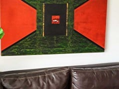foto de pintura decorativa en combinación con la paleta del ambiente