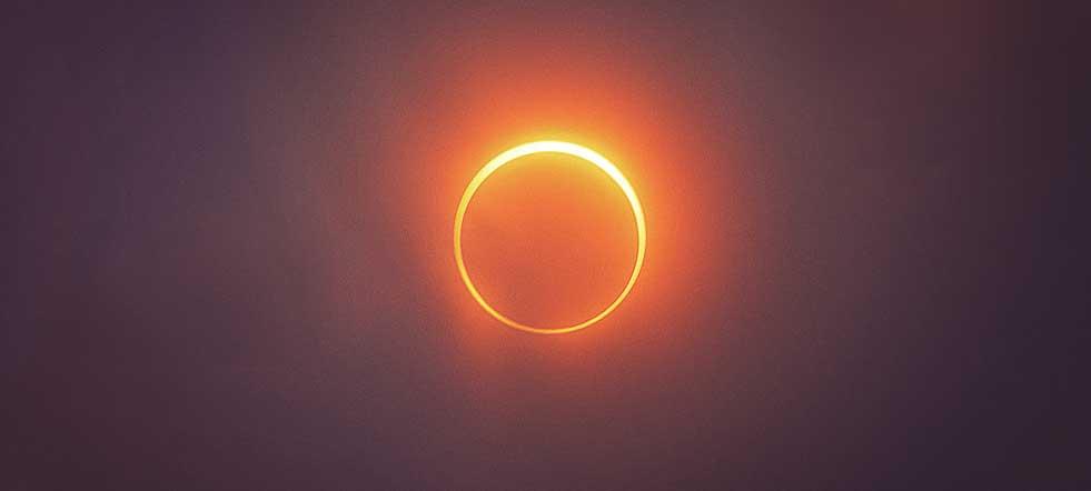 foto eclipse solar directo