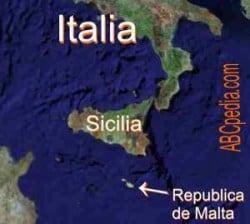 Isla de Malta en el mapa
