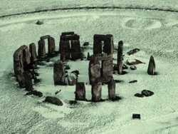 foto aérea de stonehenge