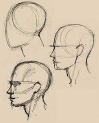 técnica de dibujo de un rostro humano