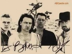 u2: Bono, The edge, Clayton, Adams, Mullen