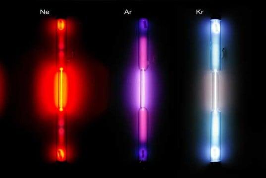 colores luz lamparillas gases nobles