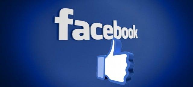 logotipo de facebook en 3d