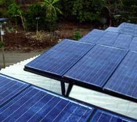 foto de un huerto solar