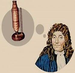 ilustración del inventor del microscopio