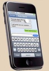 pantalla para escribir mensajes de texto en el iphone