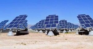 foto de parque fotovoltaico industrial