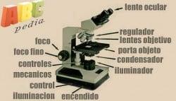partes de un microscopio