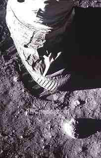 huella lunar de Neil Armstrong