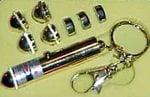 Cabezales removibles para alterar la forma del láser proyectado