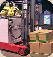 foto robot trabajando