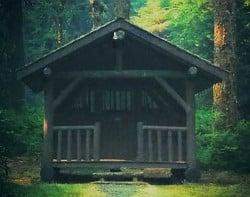 Foto de cabaña de troncos, estilo alemán.
