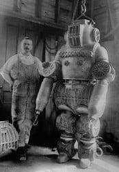 Exoesqueleto para buceo de gran profundidad, 1914.